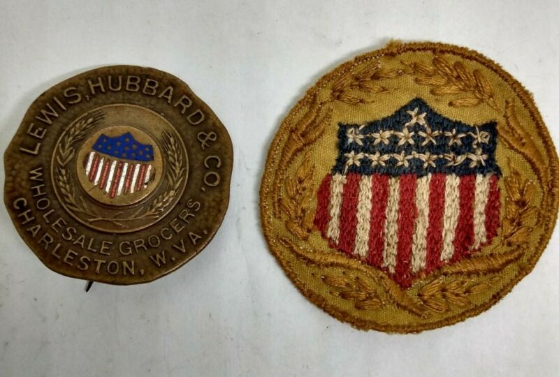 RARE WWI US Food Administration Patch & Badge