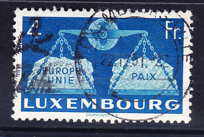 LUXEMBOURG 1951 SG548 4fr United Europe - fine used. Catalogue £75