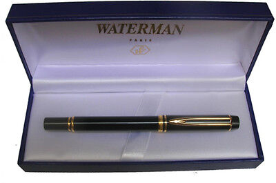 WATERMAN LE MAN 100 BLACK FOUNTAIN PEN  X FINE PT  IDEAL NIB   IN BOX  **
