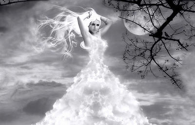 Framed Print - Beautiful Woman in the Clouds (Picture Poster Art Gothic) (Women In The Gothic)