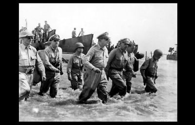 General Douglas MacArthur Wades Ashore PHOTO, Philippines, 1944 WORLD WAR TWO 2 for sale  Granite City