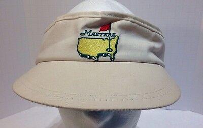 RARE Vintage MASTERS GOLF VISOR HAT White Logo American Needle Brand PGA 4d74265d6321