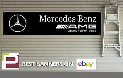 AMG Mercedes Benz Banner for Workshop, Garage, Office, PVC with eyelets, c63 etc