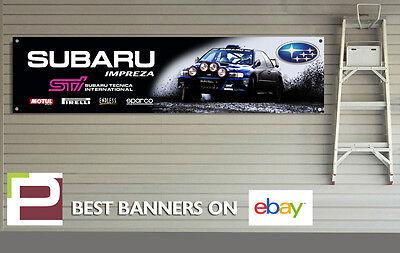 Subaru Impreza STi Banner for Workshop, Garage, Richard Burns, Colin McRae Rally
