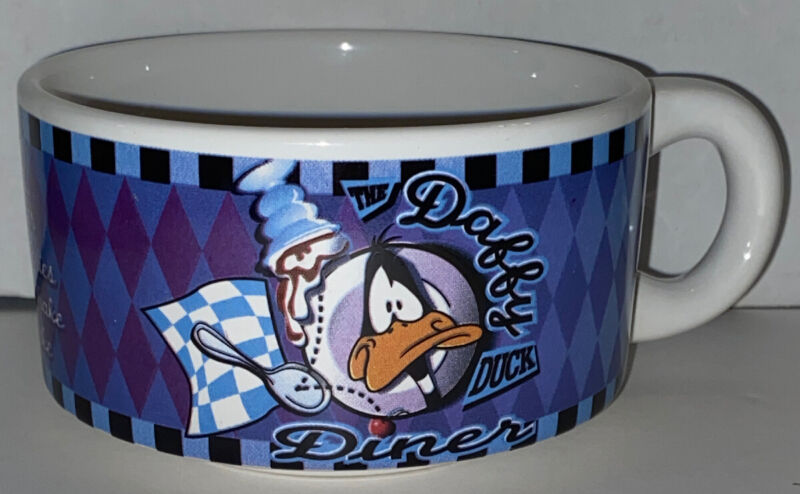 Daffy Duck Diner Coffee Soup Mug Warner Bros. 1998