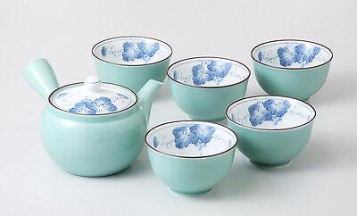 Japanisches Teeservice ARITA Grün Japan Teeset Porzellan Geschenkbox Teekanne