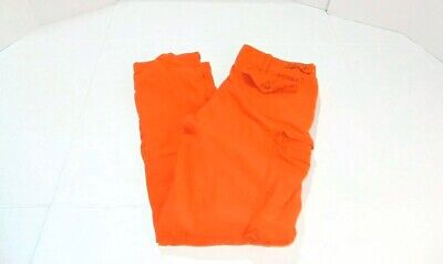 Polo Ralph Lauren Stitched RL-067 Vintage Orange Military Cargo Pants Sz 38 x 34