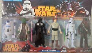 Star Wars 6 Pack 15CM Figures Luke Skywalker Darth Vader Chewbecca R2-D2 Yoda