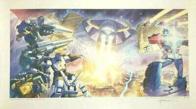Rare G1 Transformers UNICRON lithograph poster #59/200
