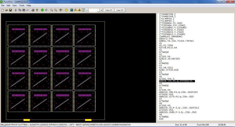 PunchSim NC Punch G-code Editor + Simulator for Amada CNC Turret Punch Press