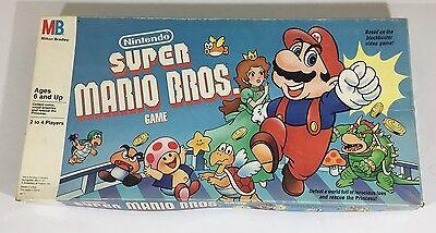 Vintage Super Mario Bros. Board Game 1988 Milton Bradley 100% Complete Nintendo