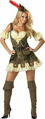 InCharacter Costumes, LLC Women's Racy Robin Hood Costume, Tan/Green, Small