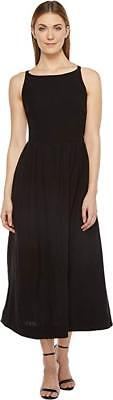 RACHEL PALLY Greysun Black Linen Cotton Sleeveless Tank Midi Skater Dress M/6/8