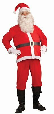 Mens 4 piece Extra Large Cheap Adult Christmas Santa Claus Suit Costume Outfit