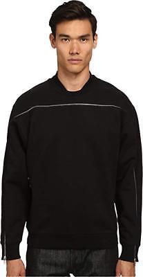McQ Men's Single Zip Top Sweatshirt Darkest Black Sweatshirt sz XL