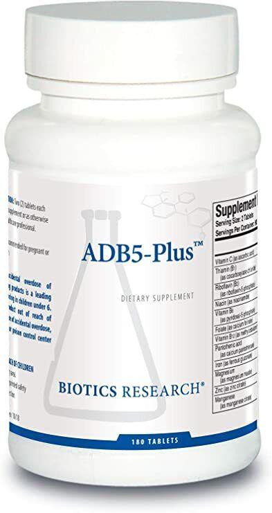 Biotics Research ADB5-Plus 180 tablets Expiration 08/2021