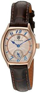 S.Coifman Women's 'Lady' Swiss Quartz Stainless Steel and Leath