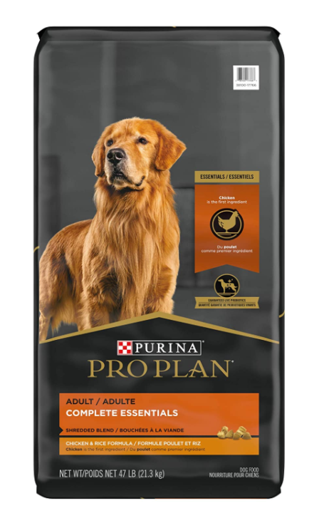 Purina Pro Plan Adult Shredded Blend Chicken Rice Dry Dog Food 47lbs Bag - $45.99