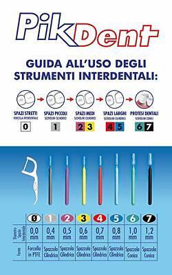 PikDent SCOVOLINI INTERDENTALI scovolino pulizia denti varie misure