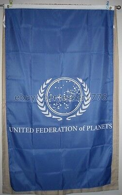 United Vertical Flag (United Federation of Planets Star Trek 3' x 5' Vertical Flag Banner - USA Seller)