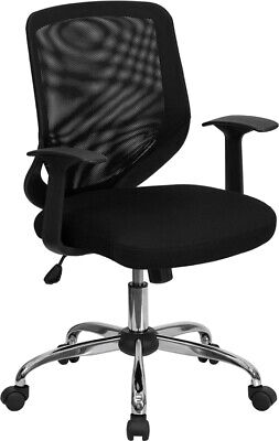 Black Mesh Fabric Computer Office Desk Chair