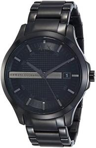 Armani Exchange Men's AX2104 Black Stainless-Steel Quartz Watch
