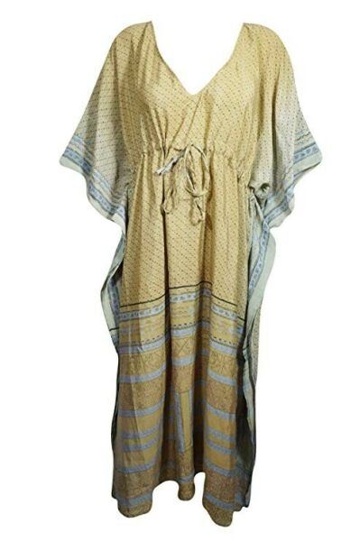 Used, Womens Maxi Dress Kaftan Recycle Sari Kimono Skirt for sale  Aldgate, East London