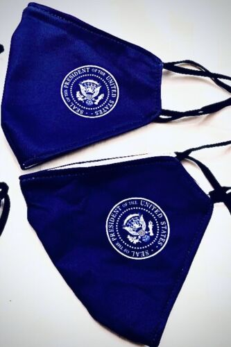 FACE MASK REUSABLE/WASHABLE, WHITE HOUSE PRESIDENTIAL SEAL, SET OF THREE MASKS