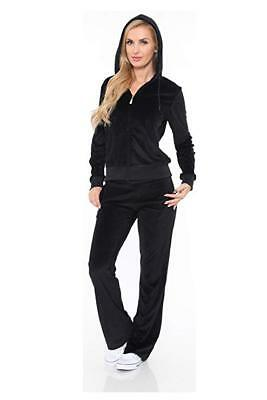 - White Mark Women's Athletic Soft Velour Zip Up Hoodie & Sweat Pants Set Jogging