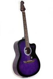 Lindo 933C Acoustic Guitar 3/4 size in purple