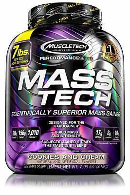 Mass-Tech 7lbs (3.2kg) Muscletech Aumento Massa Gainer OFFERTA MARZO #3