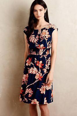 Nwt Sz S Anthropologie Evaline Dress Floral S Size Small