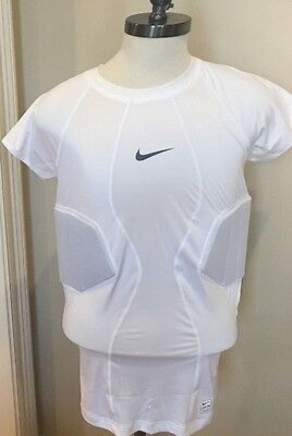 9204d2e11c25 NEW Nike Compression Shirt Sz XL White Pro Hyperstrong Football Fitted  Padded