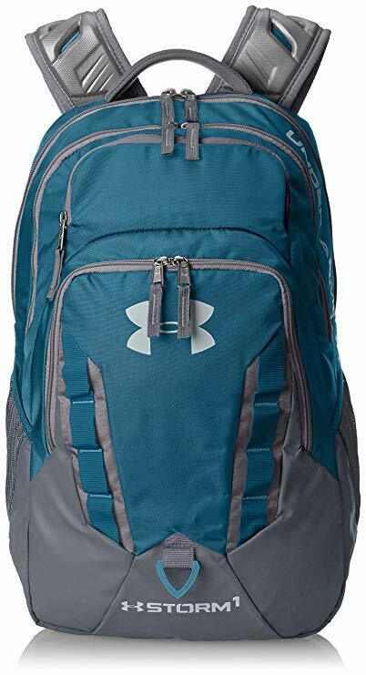 Under Armour Storm Recruit Backpack, Bayou Blue/Graphite, On