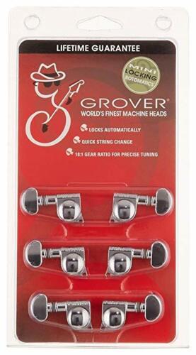 Grover 406C  Mini Rotomatic Locking Tuners 3 +3 Chrome Finish