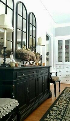 SET OF 3 french provincial style antique wall MIRRORS NEW (100x30 cm each) black