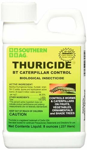 Thuricide BT 8 oz Caterpillar & Worm Control 98.35% OMRI Southern Ag