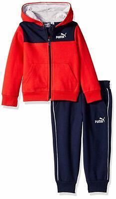 PUMA Baby Boys' Fleece Zip Up Hoodie Set ()