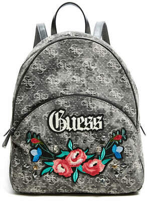NEW GUESS BLACK BADLANDS EMBROIDERED LOGO BACKPACK BAG
