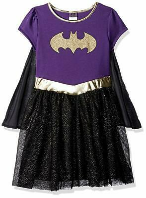 Batgirl Tutu Dress (DC Comics Girls' Batgirl Tutu Dress With Cape, Purple & Black, Size XL)