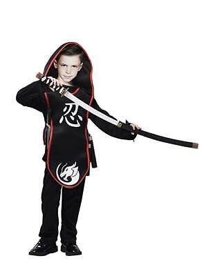 Assassin Costumes For Kids (Ninja Costume for Kids 3-Piece Assassin Master Outfit Age 3-5 NIP)