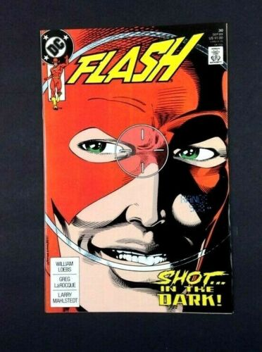 Vintage 1989 DC Comics Flash Issue #30 Shot In The Dark Copper Age