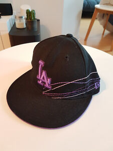 New Era LA Dodgers Black/Purple cap 7 1/4