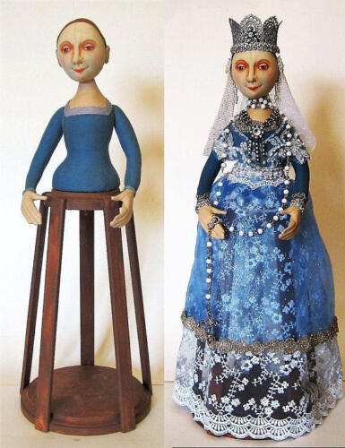 """Isabella, Santos Cage Doll"" Cloth Doll Pattern By Arley Berryhill"