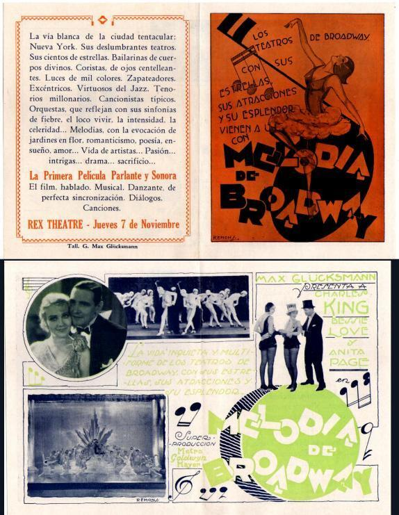 THE BROADWAY MELODY(1929 ), CHARLES KING ,Herald