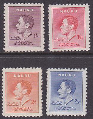 Nauru SC#35-38 Mint LH King George VI Coronation (S_92m)