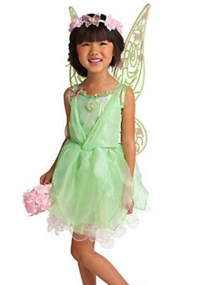 Disney Store Tinker Bell Fairy Costume Wings Shoes Wand Tiara Bonus: Tinker Doll - Tinkerbell Wand