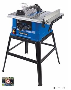 Mastercraft 15A Table Saw with Stand, 10-in (Brand New In Box)