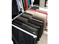 Ikea pax pull out trouser rail storage working fine