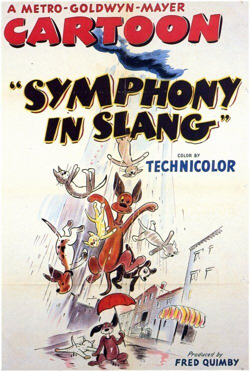 SYMPHONY IN SLANG Movie POSTER 27x40 John Brown